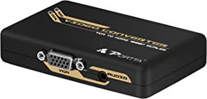 Portta VGA PC / Laptop to HDMI Video upscale Converter Adapter Upscaler Up to 720P/1080P with 3.5 mm audio port for Computer, Desktop, Laptop, PC, Monitor, Projector, HDTV