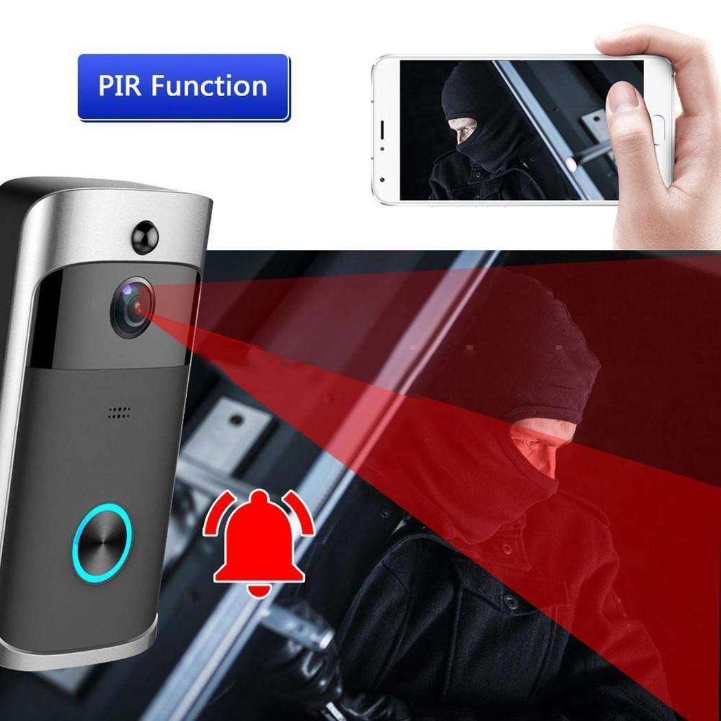 lantusi Durable Practical 166° Wide-Angle Wireless Phone Remote Doorbell Kits by lantusi (Image #3)