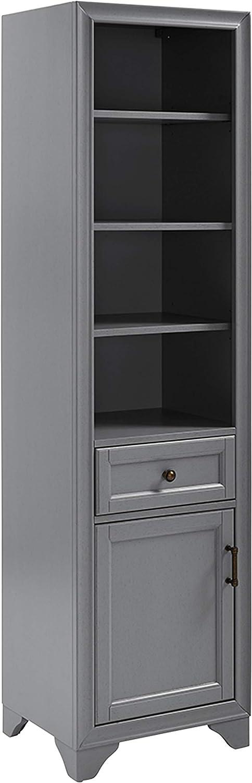 Crosley FurnitureTara Bathroom Linen Cabinet, Vintage Gray