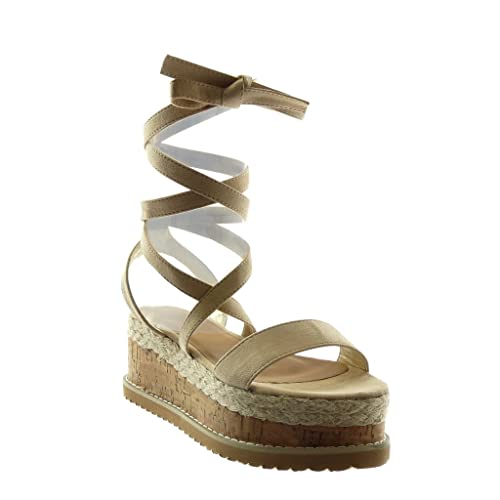 Mode Sandale Chaussure Montante Plateforme Angkorly Mule Femme qSpUzMVG