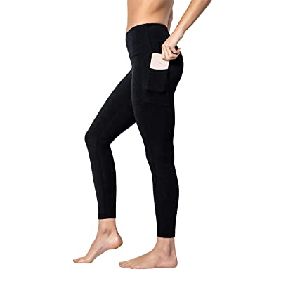 90 Degree By Reflex - High Waist Cotton Power Flex Leggings - Tummy Control at Amazon Women's Clothing store