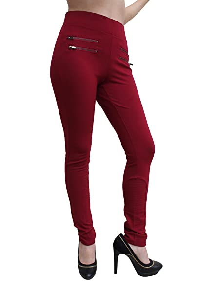 to buy fashionable and attractive package 100% quality Ci sono High Waist Leggings with Zippers