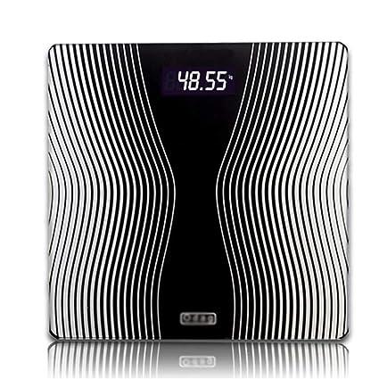 JXXDQ Básculas de baño Digitales ultradelgadas con sensores de Alta precisión y Vidrio Templado (Color