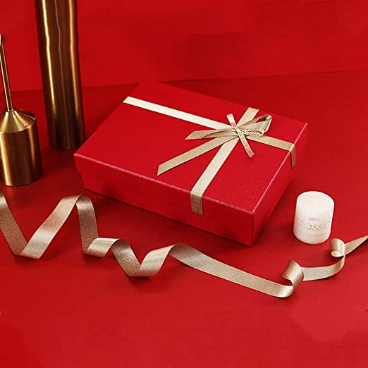 Z-Live - Caja de Regalo Premium, Caja Rectangular roja, Caja de ...