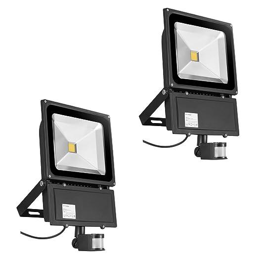Foco con Sensor de Movimiento 2X 100W,PrimLight Proyector Led ...