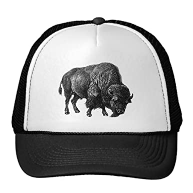 Swissy Bison Truck Hat Buffalo Mesh Snapback Hats Wyoming