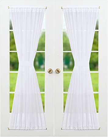 Amazon Com Rhf Voile French Door Curtains Set Of Panels By
