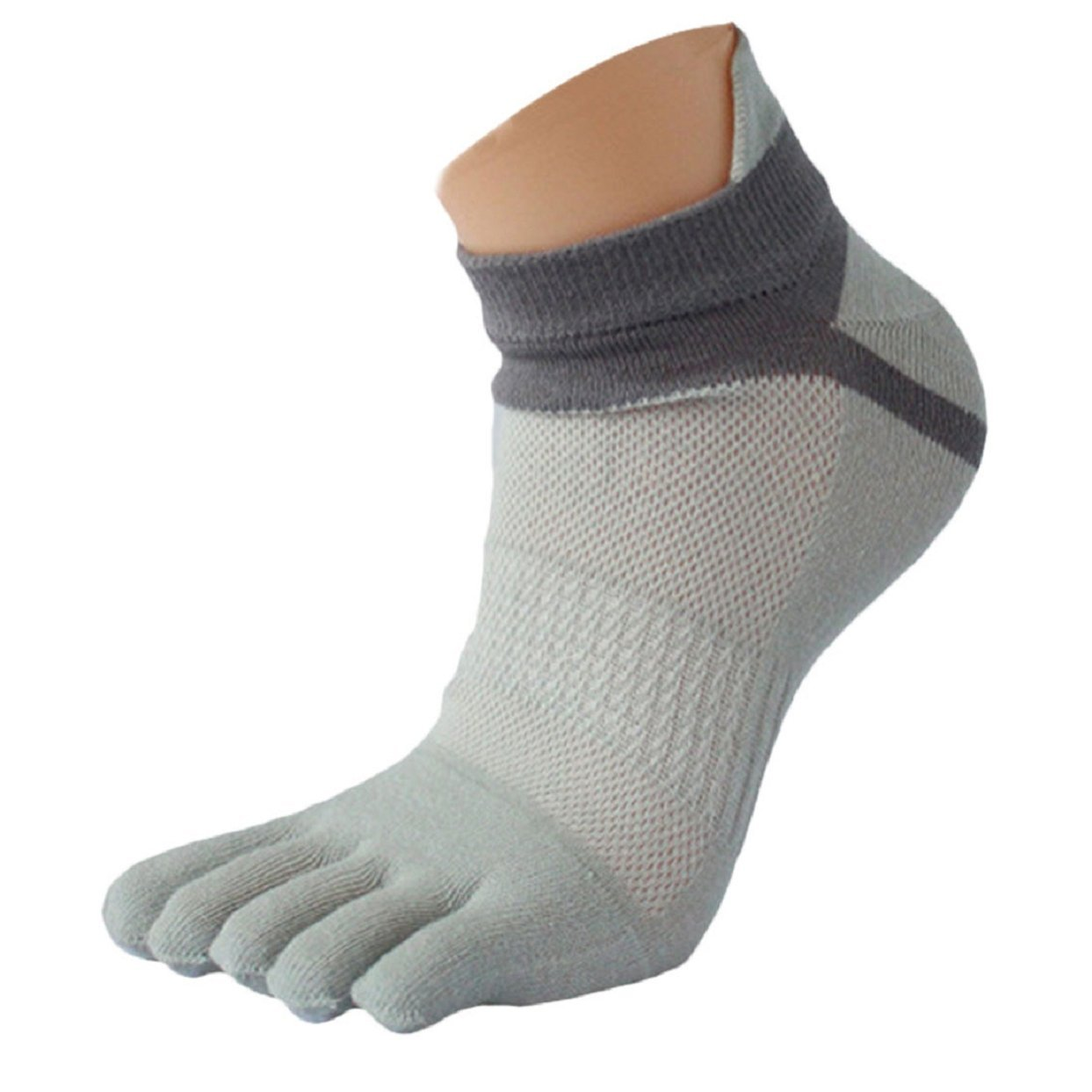 Lowpricenice 1 Pair MenMesh Meias Sports Running Five Finger Toe Socks