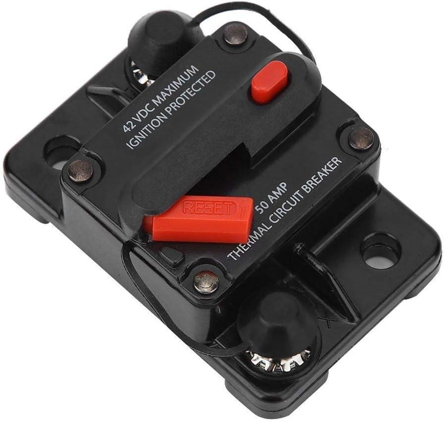KSTE 48V 50A Manual Reset Schutzschalter Sicherungshalter LKW-Auto-Boot Zubeh/ör