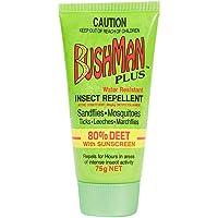 Bushman Plus 80% Deet with Sunscreen DryGel Tube 75 g, 75 grams
