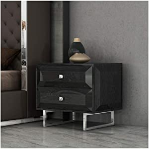 Whiteline Modern Living Abrazo Nightstand, Gray