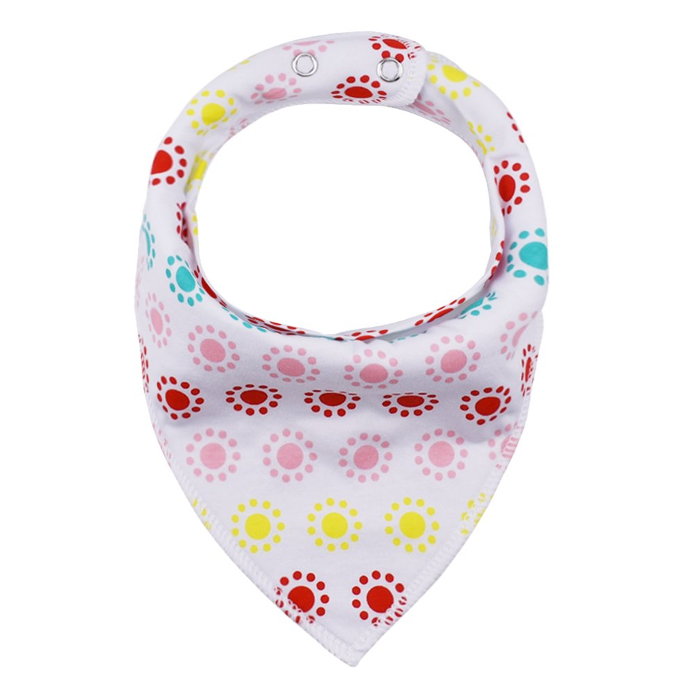 Absorbent Soft Cotton Lining 0-2 Years iZiv 4 PACK Baby Bandana Drool Bibs with Adjustable Snaps Color-9