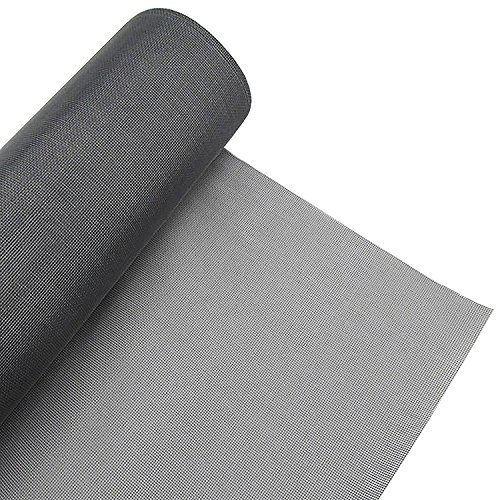 Nylon Replacement Window (Window Screen Roll Adjustable Protector Screen Mesh Replacement Inflaming Fiberglass Summer Blocking Mosquito Insect Bug Fly for Window and Door with Cleaning Brush (Gray 48 x 99 inch))