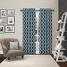 "Pairs to Go Vickery Window Curtains (2 Pack), 84"", Indigo"