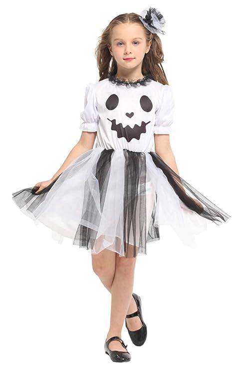 Better-Life Disfraz Fantasma Chica Mueca Disfraz de ...
