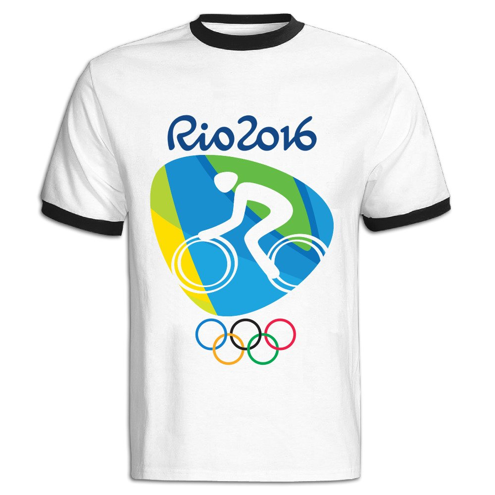 Lebulan S Road Cycling Logo 2016 Rio Olympic Games Ringer T Shirtstee