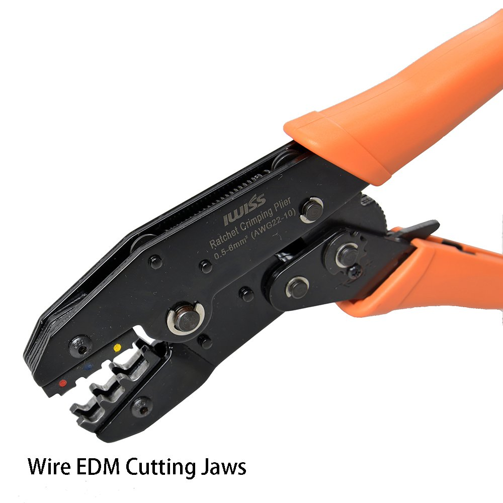IWISS IWS-30J Ratcheting Wire Terminal Crimper with FREE Terminals ...