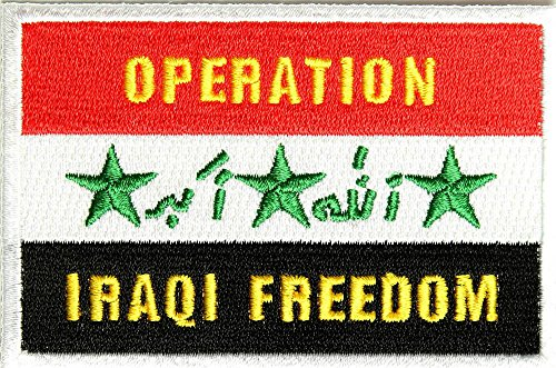 (OPERATION IRAQI FREEDOM OIF IRAQ FLAG PATCH - Color - Veteran Owned Business.)