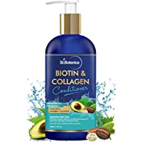 StBotanica Biotin & Collagen Hair Conditioner, 300ml - For Thicker, Fuller and Healthy Hair, with Pro-Vitamin B5, E, Saw Palmetto & Shea Butter