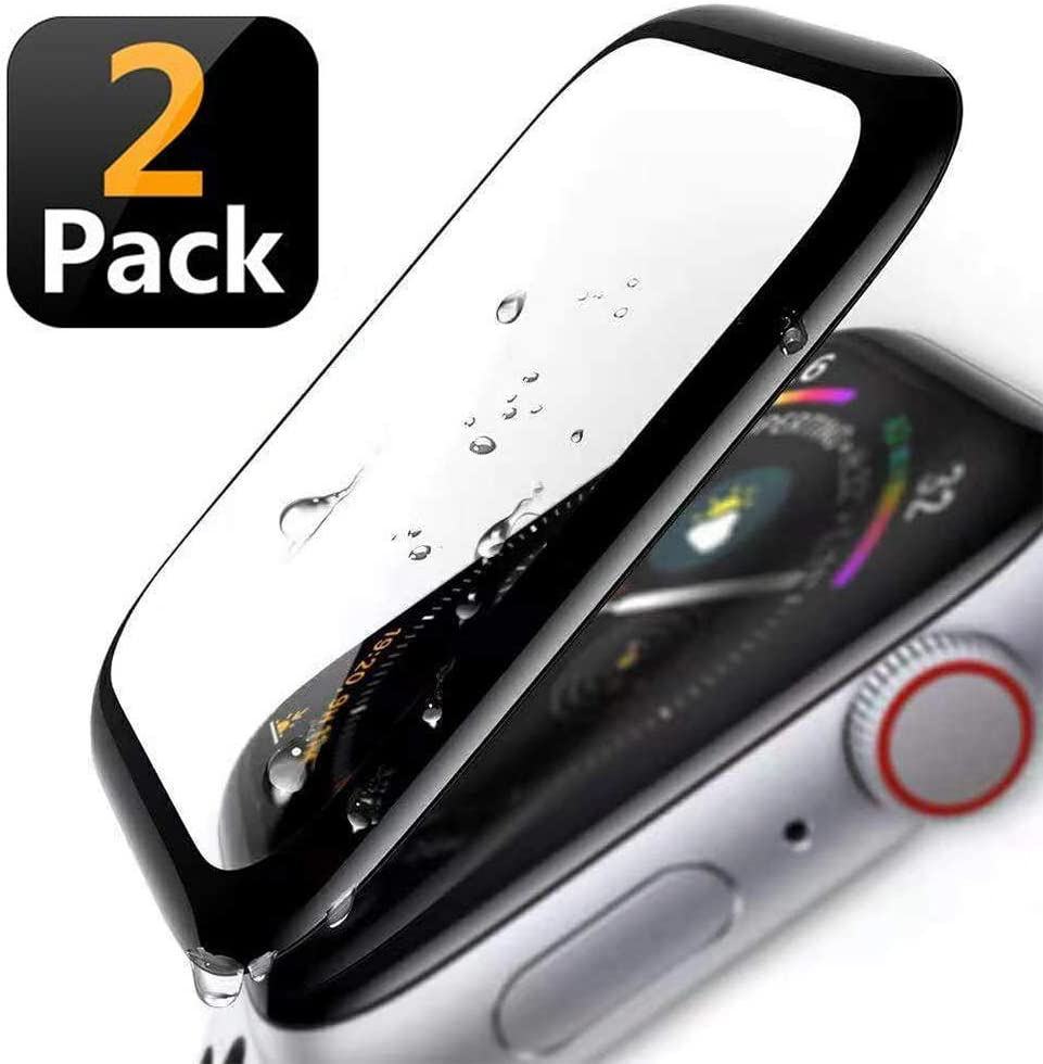 Screen Protector 42mm for Apple Watch Series 3/2/1 [2 Pack] 3D Curved, Easy installation, Anti-Fingerprint,HD Clear, 9H Tempered Glass Screen Protector Compatible Apple iWatch 42mm