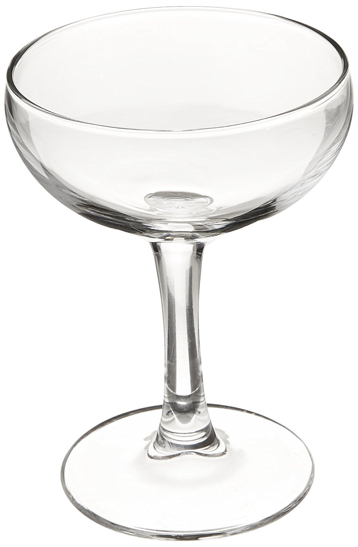 Luminarc N2642 Assorted Craft Brew Bar Coupe Martini Glass, 5.5 oz, Clear