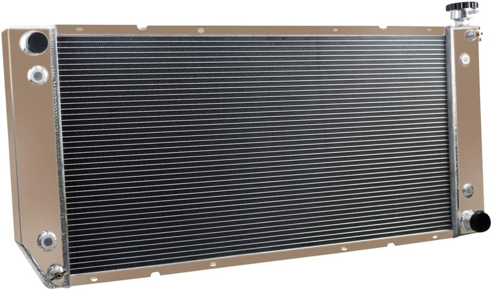 4ROWS CORE CoolingCare All Aluminum Double Oil Cooler Radiator for Chevy C//K 1500 2500 3500 Truck Suburban Tahoe V8 Engine 1988-2000