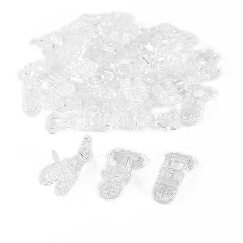 CLE DE TOUS@ 30pcs Pinza para chupetero de plástico Color Blanco Transparente