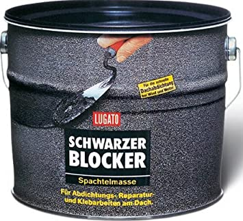 Sehr Gut Lugato Schwarzer Blocker Spachtelmasse 5 kg - Für Abdichtungs  XR33