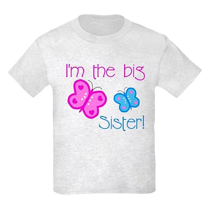 d4b30ffbf Amazon.com  CafePress - Big Sister Butterfly Kids Light T-Shirt ...