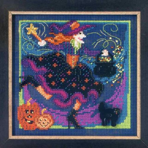Button Bead Kit (Magic Brew Beaded Counted Cross Stitch Kit MH14-2204 Mill Hill Buttons & Beads 2012 Autumn)