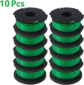 Lucky Seven GH3000 Trimmer Replacement Spools Compatible with Black and Decker SF-080 LST540 Weed Eater, 20ft 0.080 inch GH3000R LST540B LST540 Edger Refills Parts, Auto-Feed Single Line Cord 10 P