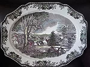 """Johnson Brothers The Friendly Village 20"""" Oval Serving Platter"""