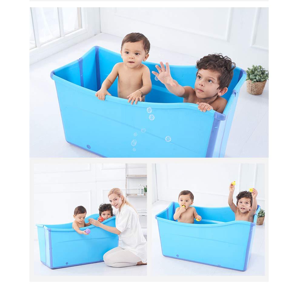 Weylan Tec Large Foldable Bath Tub Bathtub For Adult Children Baby Toddler Blue by Weylan Tec (Image #2)
