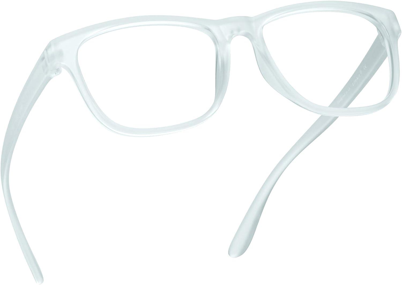 LifeArt Blue Light Blocking Glasses, Anti Eyestrain, Computer Reading Glasses, Gaming Glasses, TV Glasses for Women Men, Anti UV, Anti Glare (Clear, 0.25 Magnification)