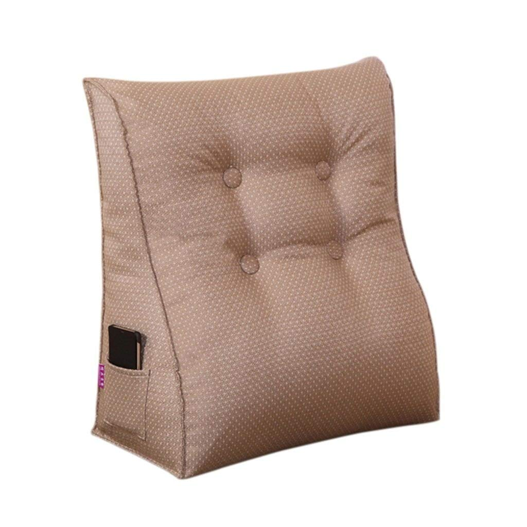 Lumbar Cushion Back Support Pillow Reading Pillow for Bed Backrest Sofa for Back Pain (Color : #2, Size : 455025cm)