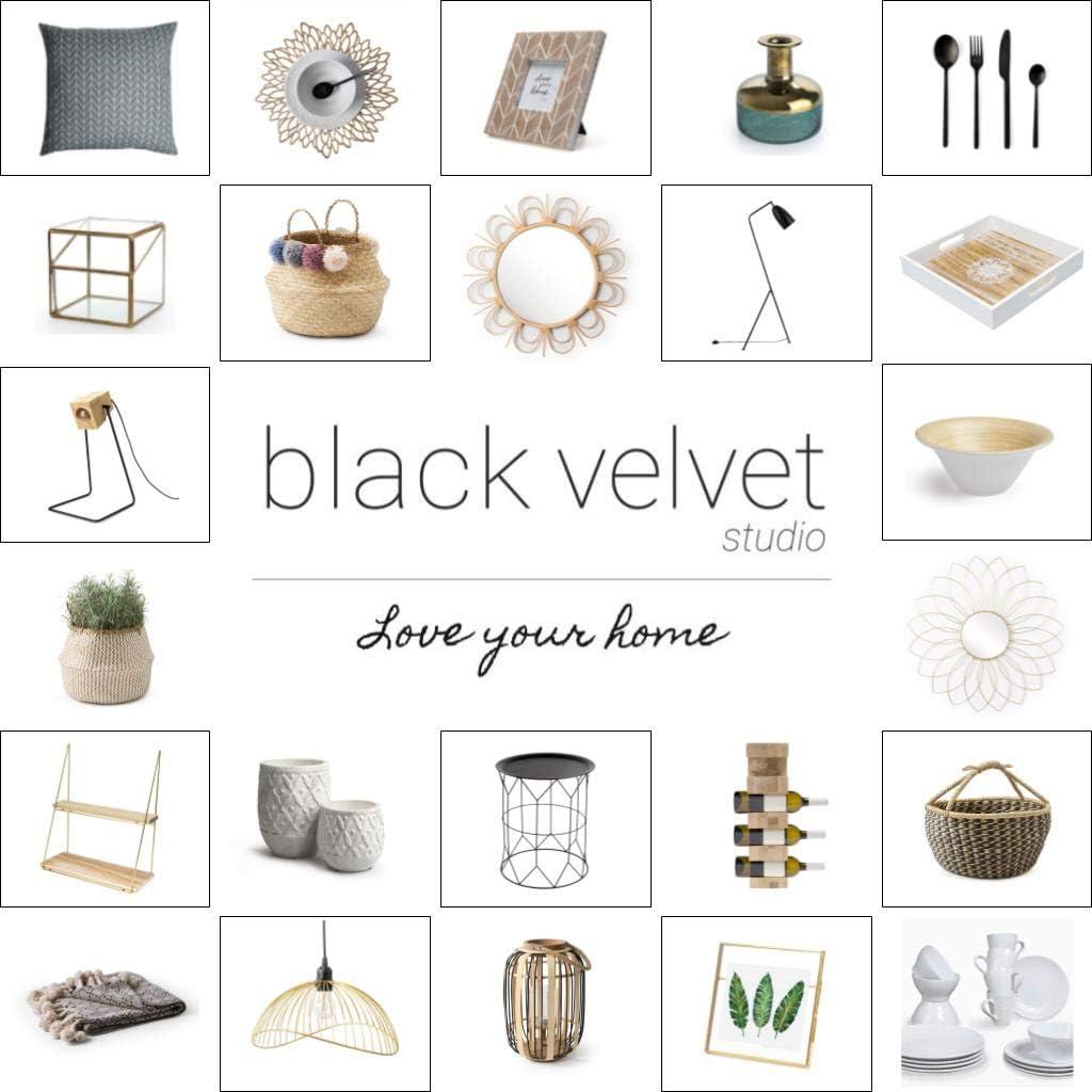 Black Velvet Studio Color Transparent et Or Style Nordique et r/étro Forme de Fleur 13x11x11 cm. Porte-Bougie Retro Verre et m/étal