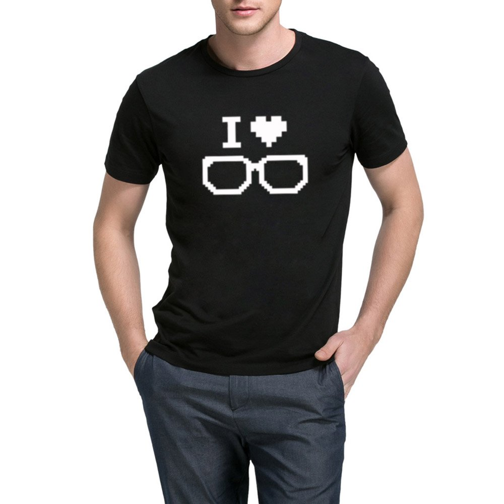 Loo Show S I Love Geeks Graphic Short Sleeve Casual Graphic T Shirts Tee