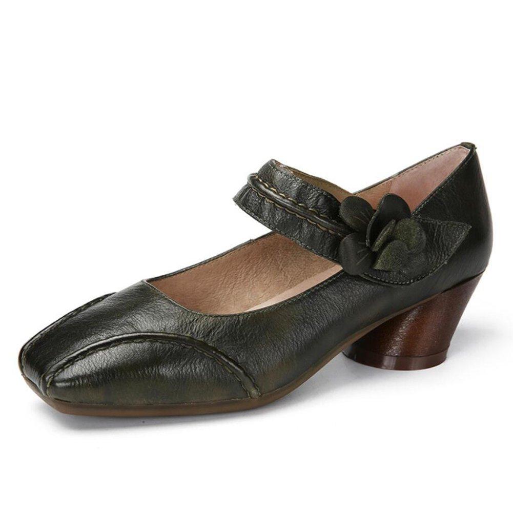 XUE Damenschuhe Leder Fruuml;hjahr/Sommer Klett Schuhe Fahren Schuhe National Style Sandalen/Hausschuhe Flip-Flops Persouml;nlichkeit Wanderschuhe Buuml;ro atmungsaktiv (Farbe : EIN, Grouml;szlig;e : 40)  40|Ein