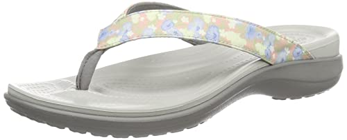 a211ef1f3 Image Unavailable. Image not available for. Colour  Crocs Women s Capri V  Graphic Flip W Flr lgr Open Back Slippers