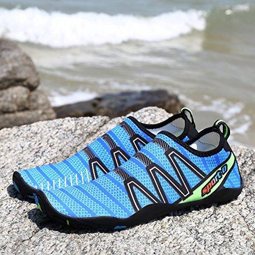Strandschuhe Barfuß Blau Badeschuhe Rutschfeste Ashopping Schuhe Damen Surf Kinder Wasserschuhe Aquaschuhe Herren Trocknend Schnell Schwimmschuhe za6W6