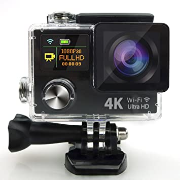 Diario original de 4K Ultra HD 1080P Dual Display Mini Wifi Cámara sumergible de acción deportiva DV Videocámara Impermeable, ||