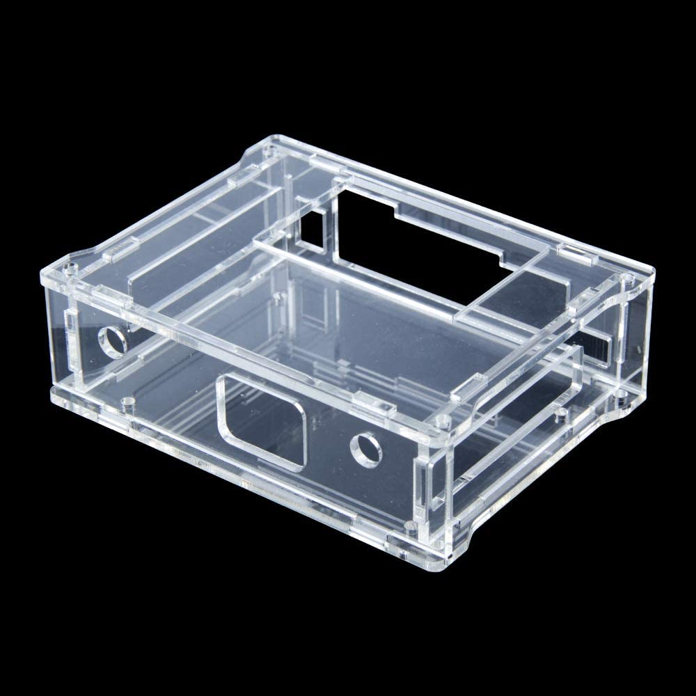 TeOhk Clear Acrylic Protective Case Compatible with NVIDIA Jetson Nano with 2pcs Cooling Fan 3.0-5.8V