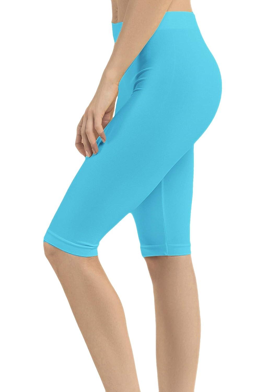 19 Inch ClothingAve 12 Womens Lightweight Solid Biker Short Spandex Yoga Leggings 10