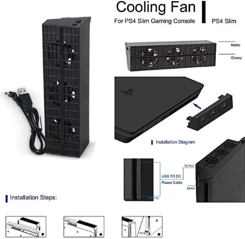 huiouer - Ventilador de refrigeración para Consola PS4 Slim Game ...