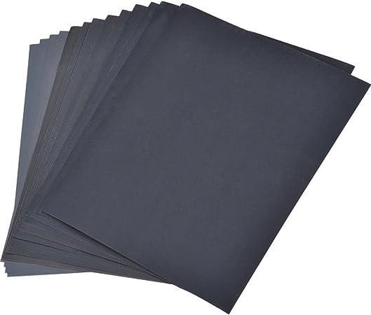 Mouillé et sec papier abrasif 10 pièces 400er grain 230x280mm