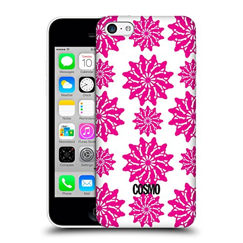 Official Cosmopolitan White And Pink Floral Patterns Hard Back Case for Apple iPhone 5c