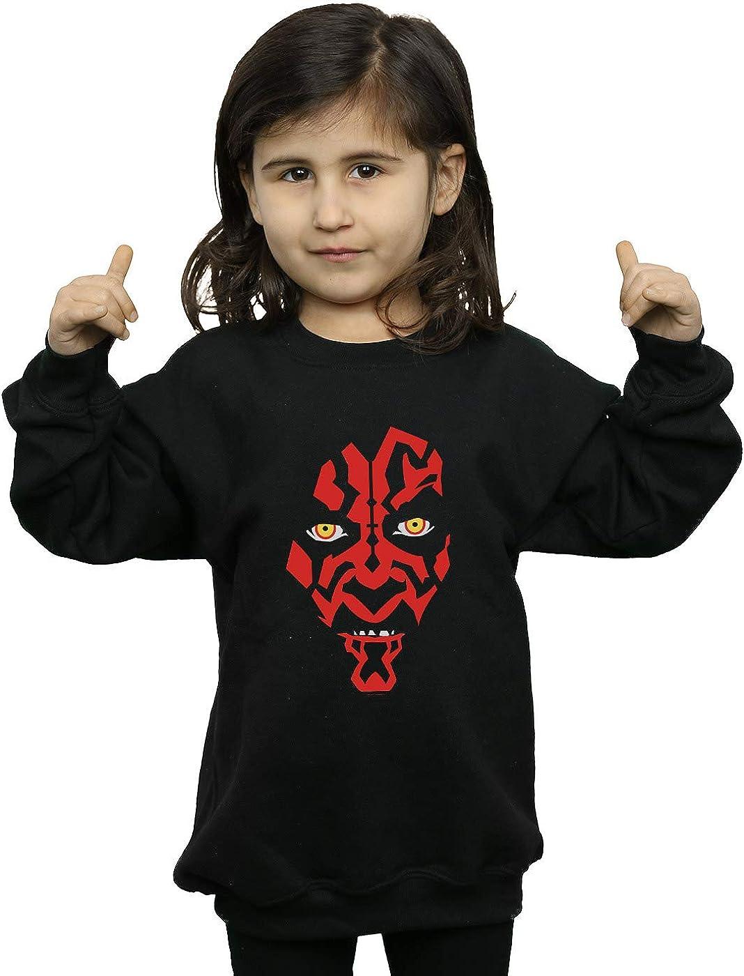 Star Wars Girls Darth Maul Face Sweatshirt
