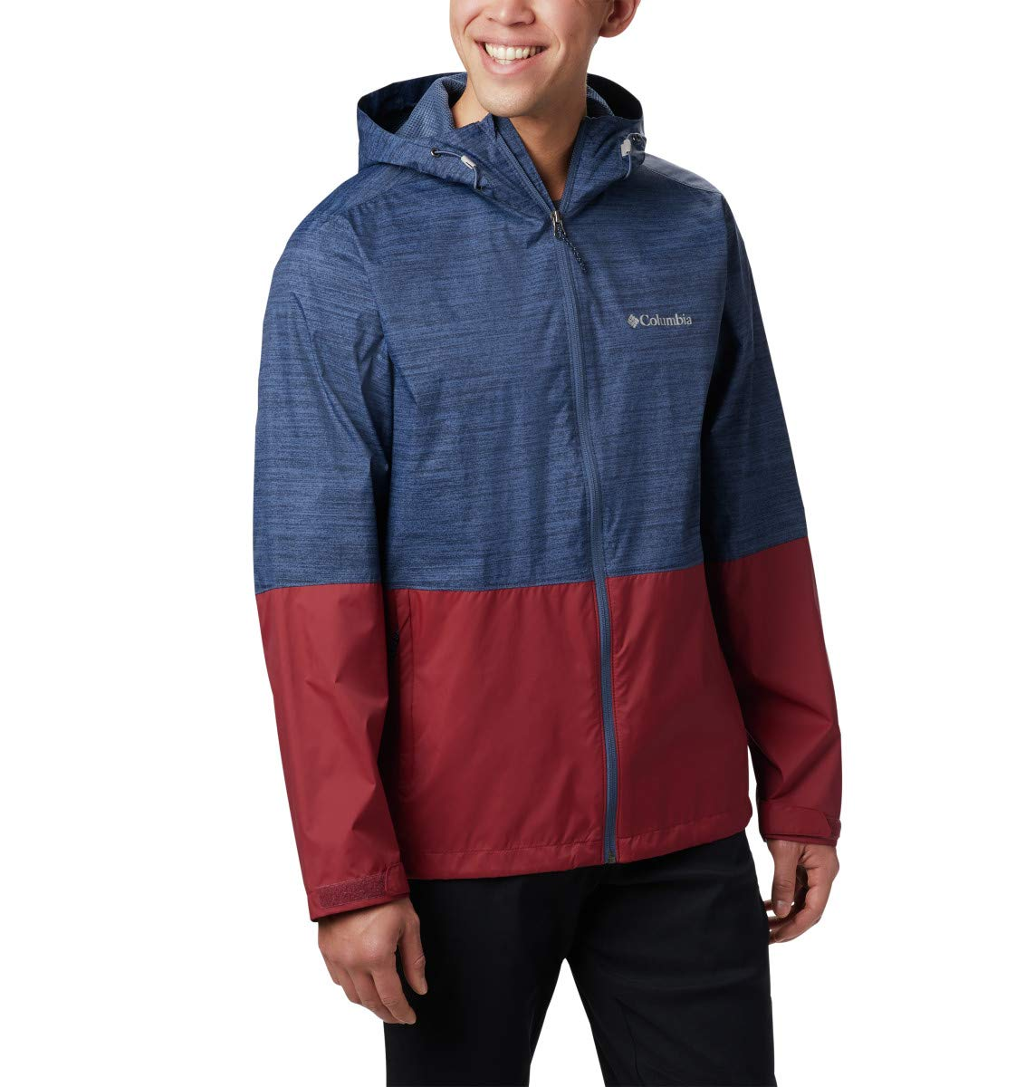 Columbia Men's Roan Jacket, Dark Mountain Texture Print, red Jasper, X-Large by Columbia