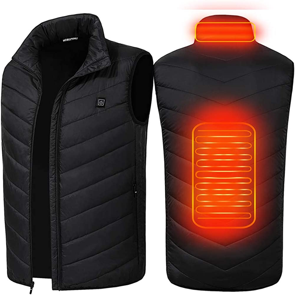SUPTEMPO Womens Mens Heated Jacket Electric Heating Jacket Winter Warm Jackets for Women and Man