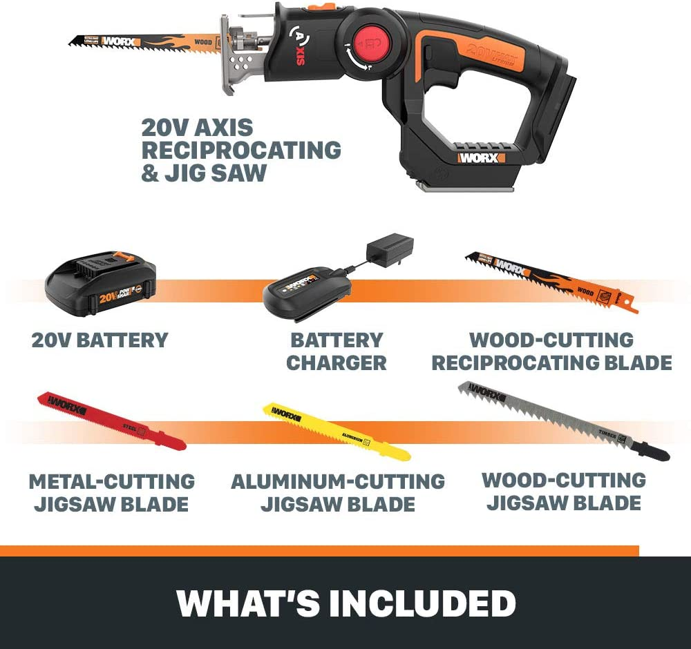 WORX WX550L 20V AXIS 2-in-1 Jigsaw
